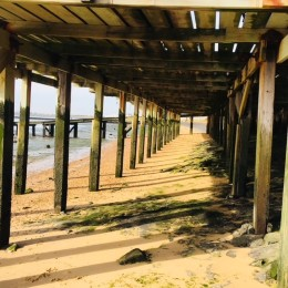 Wood deck beach